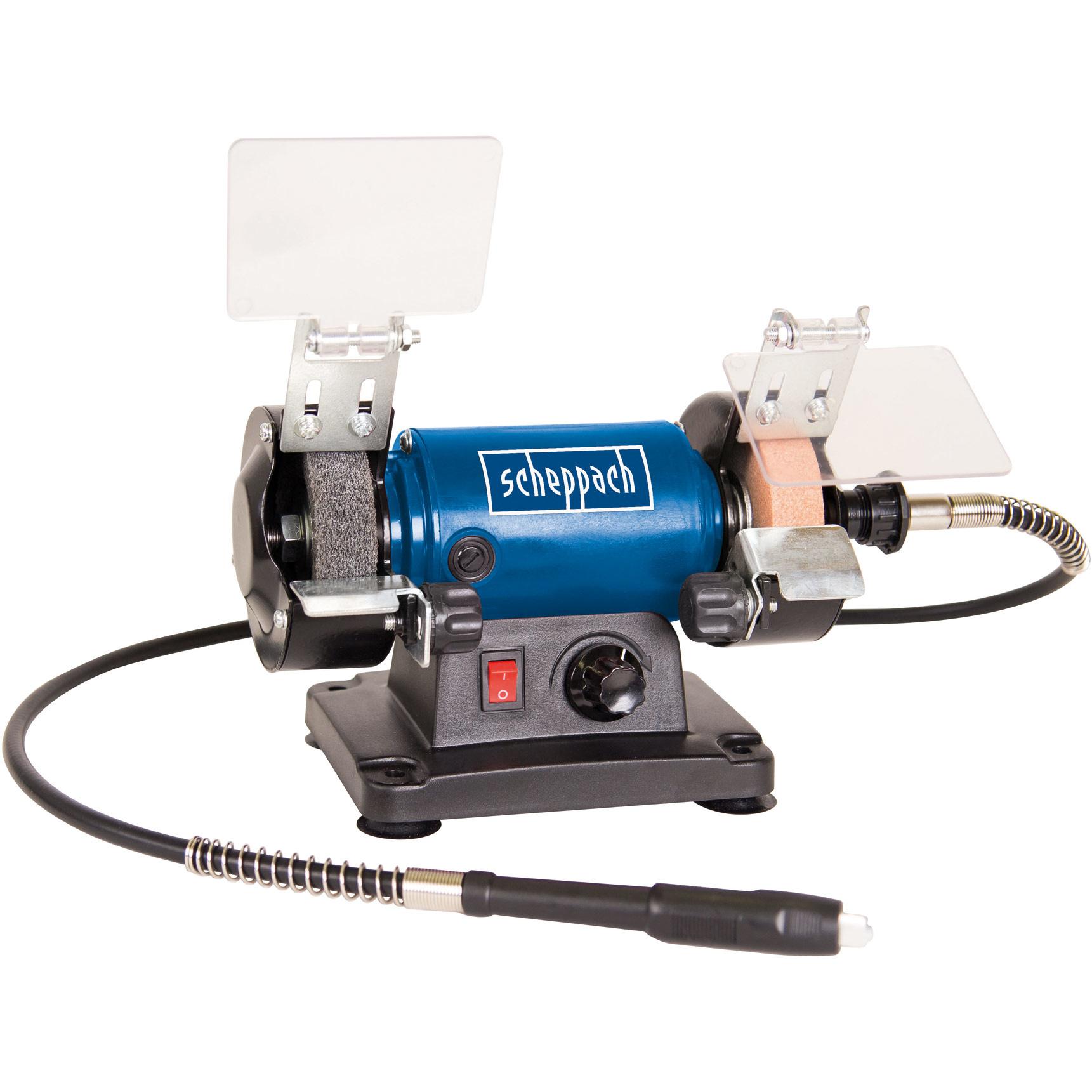 "Scheppach Slijp- en polijstmachine 3""HG34 inclusief 100-delige toolkit? Ø75mm   230V   1"