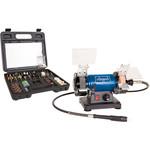 "Scheppach Slijp- en polijstmachine 3"" HG34 inclusief 100-delige toolkit – Ø75mm | 230V | 120W"