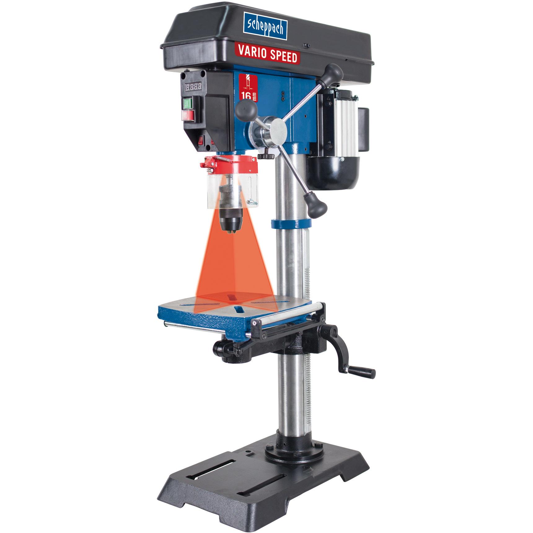 Scheppach Tafelboormachine DP18Vario - 230-240V | 550W | 1-16mm | incl. laser&led