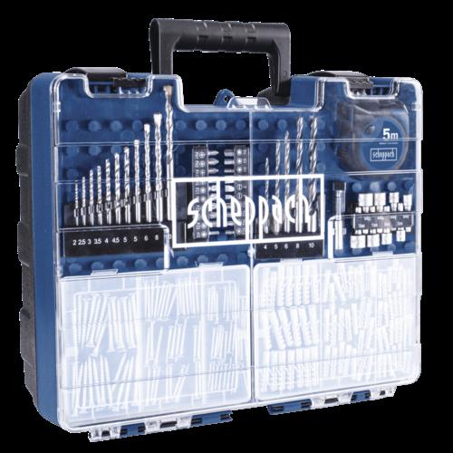 Scheppach Accuboormachine set 20V - Incl. 2x 2.0Ah Accu's, Snellader, Koffer en 206 acc. set