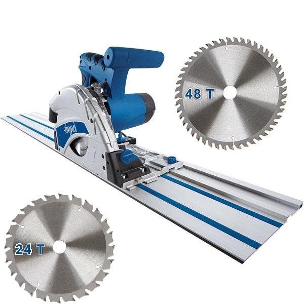 Scheppach Invalzaag PL55 - 1200W | 160mm | Zaagblad 1x 24T + 1x 48T