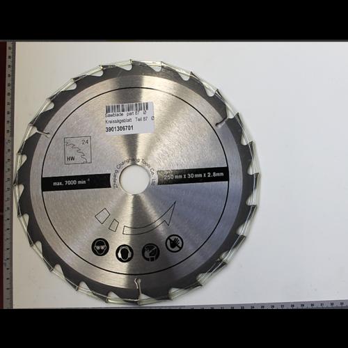 Scheppach Cirkelzaagblad 24T 250x30 mm - Geschikt voor HS100S