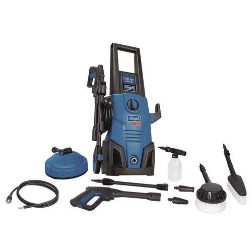Scheppach Hogedrukreiniger HCE1600 - 1600w |  135 bar |  veel accessoires!
