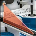 Scheppach Special! Afkort-trekverstekzaag HM254 - 2000W | 255mm | Laser, LED en draaitafel | 2 zaagbladen + UMF2000 onderstel