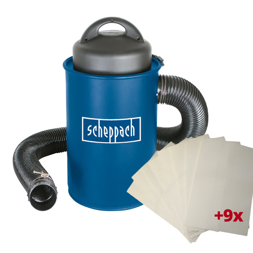 Scheppach Stofafzuiging HA1000 - 1100W | 230V | 50 liter| Incl. 9 stofzakken