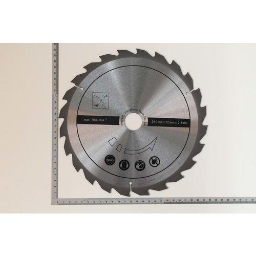 Scheppach Cirkelzaagblad 24T  250mmx30mm - Voor HS100S