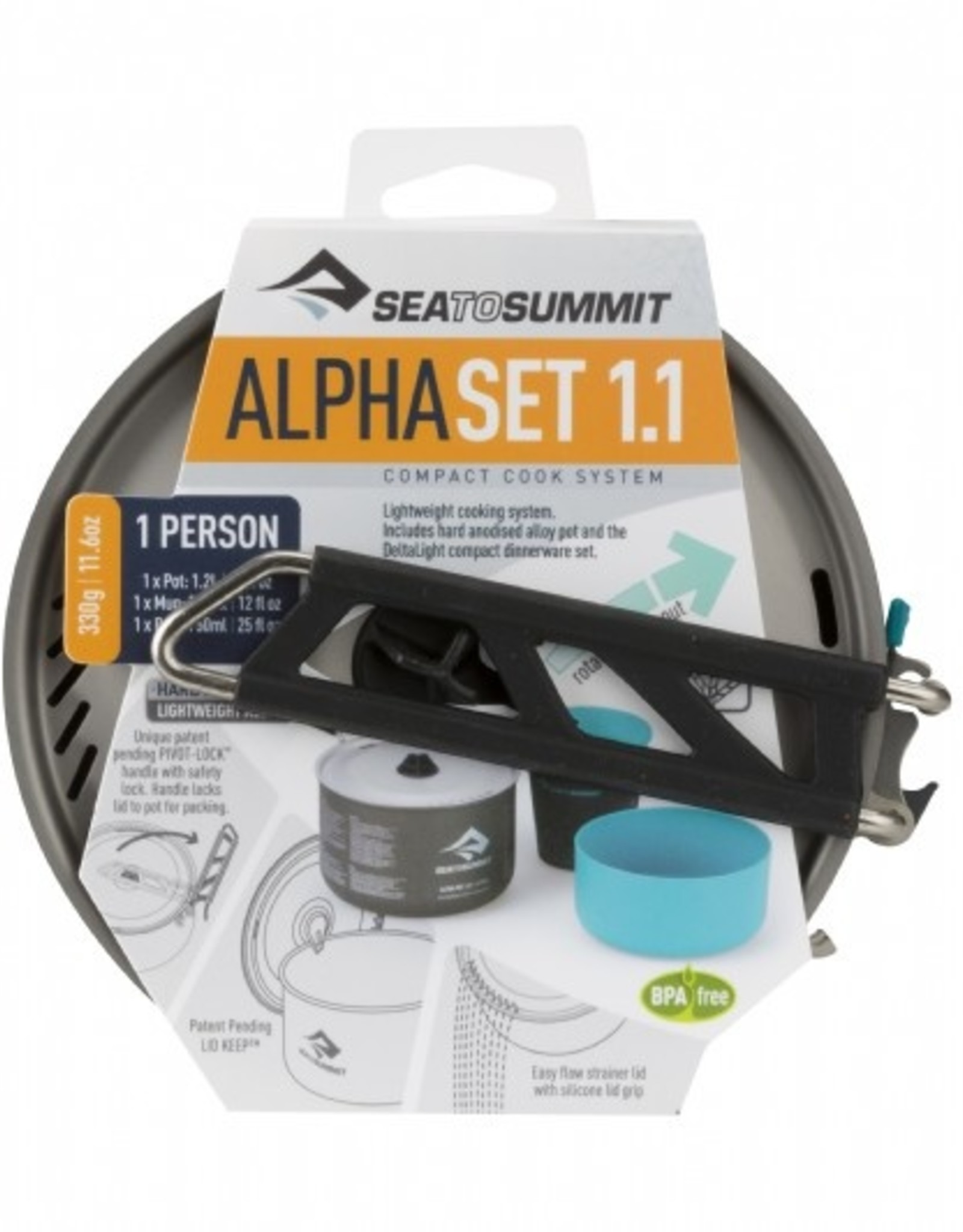 Sea to Summit - BINNENKORT VERKRIJGBAAR - Sea to Summit Alpha cookset 1.1