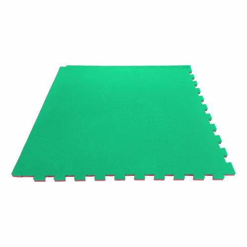 Puzzelmat - Sportvloer (Rood/Groen - Zwart/Rood)