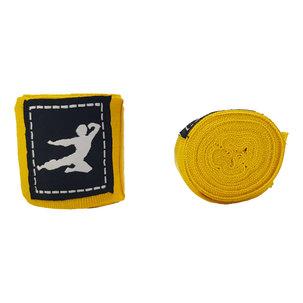 Bruce Lee Boxing Wraps 250 cm, Pair (Multiple colors) - Yellow