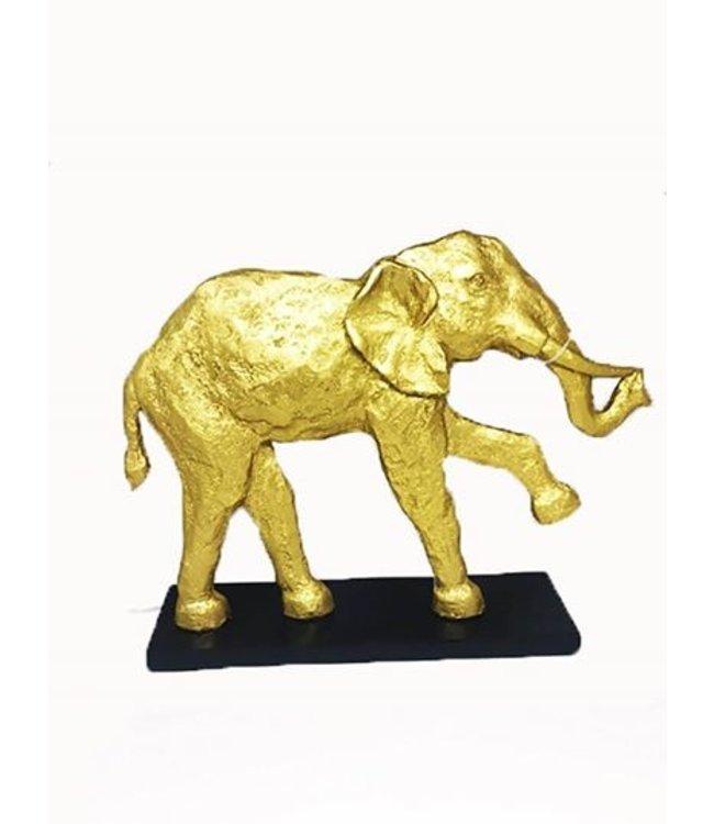 Olifant goud beeld - keramisch prachtig