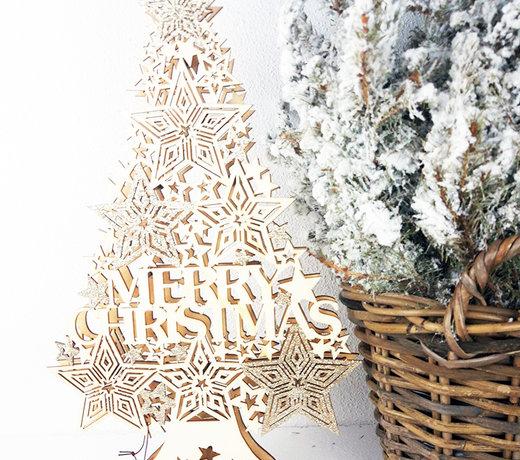 Een kinderkerstboom: hartstikke leuk om samen de kerstboom te versieren.
