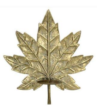 Gouden blad  wandkandelaar
