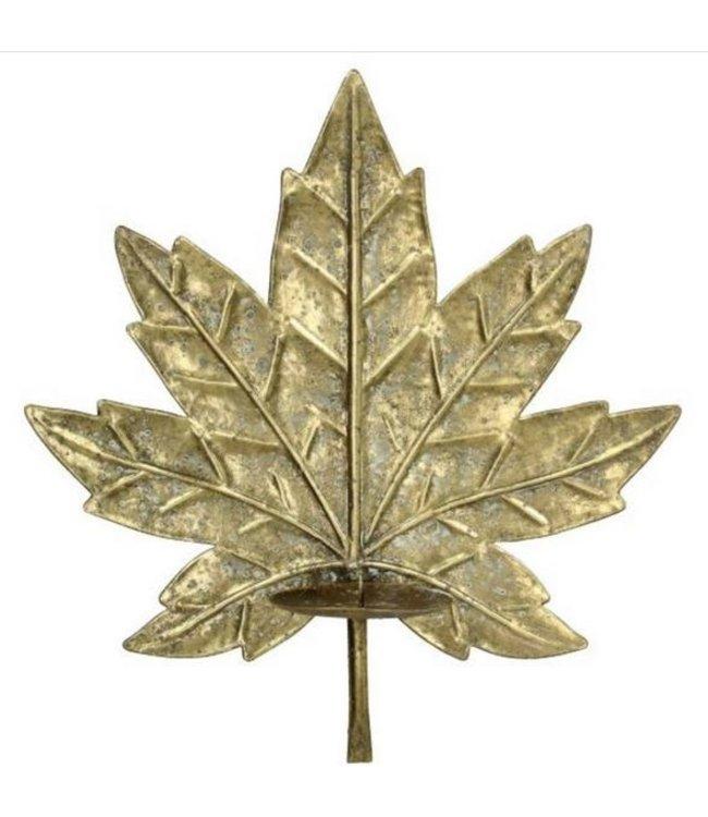 Gouden blad wandkandelaarvoor de muur