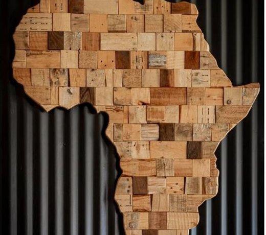Afrikaanse interieur is natuurlijk en bijzonder