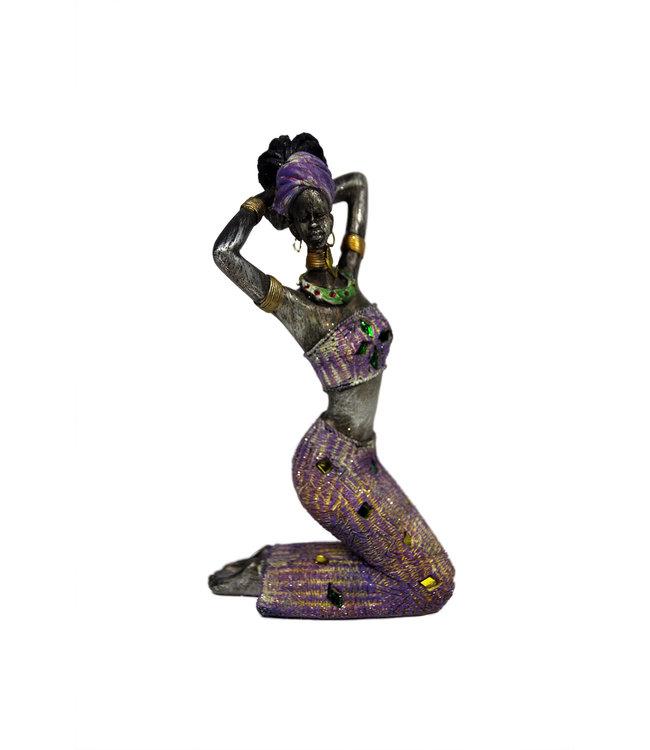 Afrikaanse vrouw beeld -  steen Spa Day