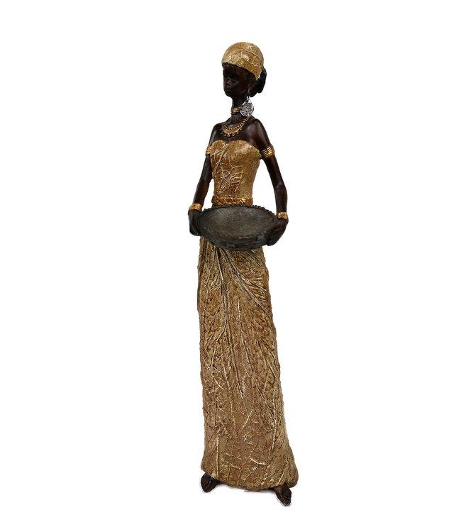 Afrikaanse beeld | Dame met schaal