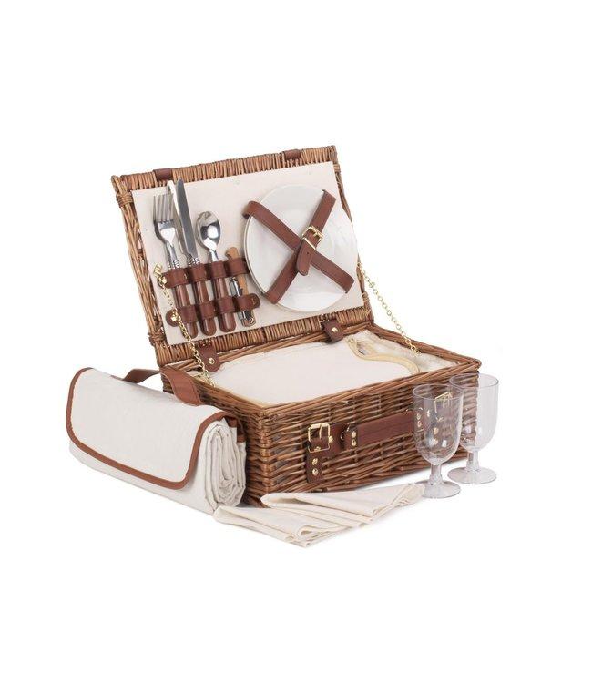 Luxe picknickmand voor picknick The Brownie - voor 2 personen
