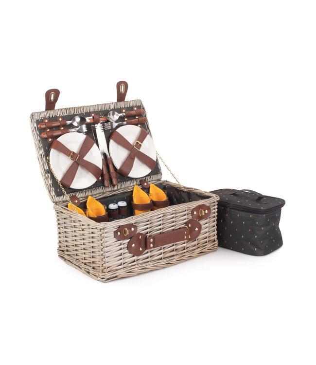 Picknickmand 4 personen Industriële Cognac