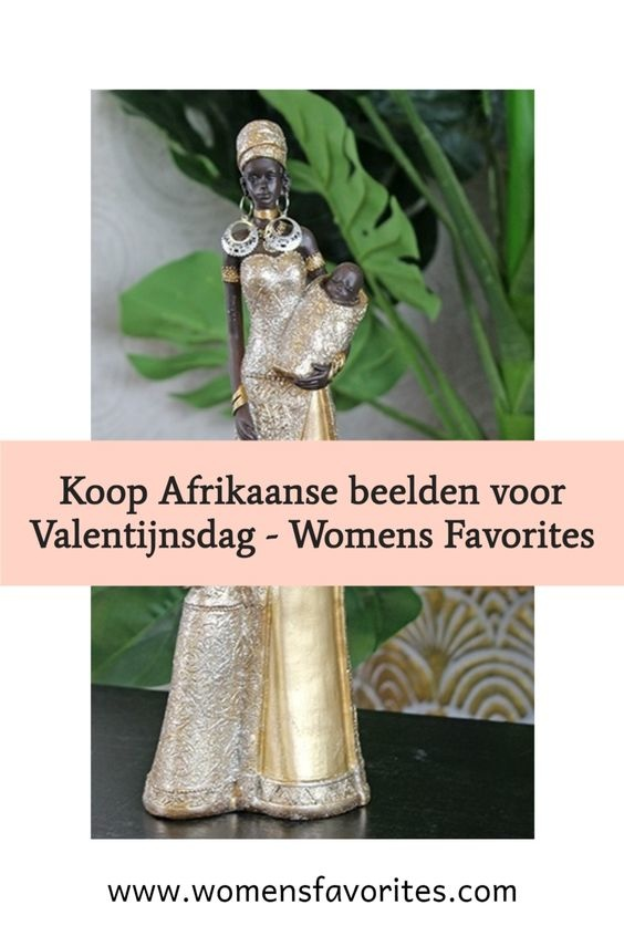 Afrikaanse beeldjes voor Valentijnsdag