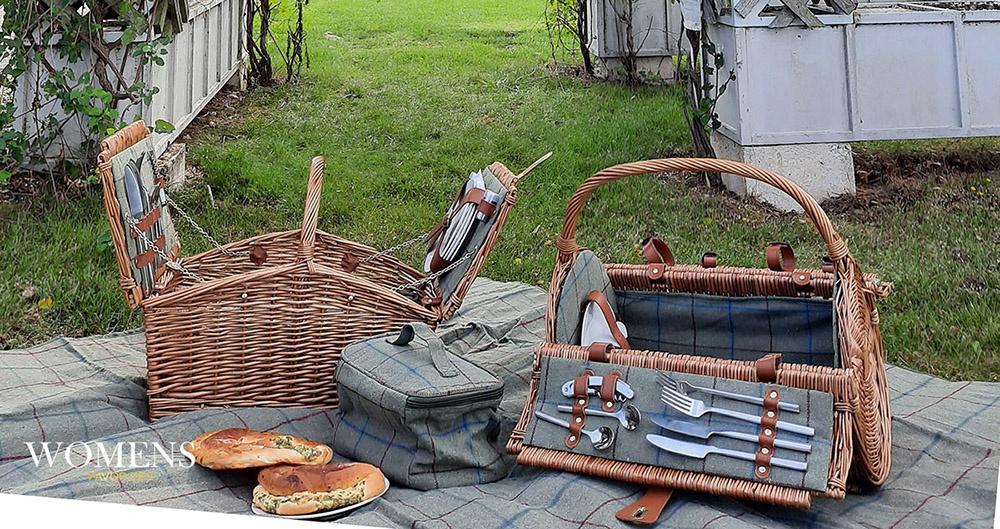 Picknickmanden op voorraad in januari
