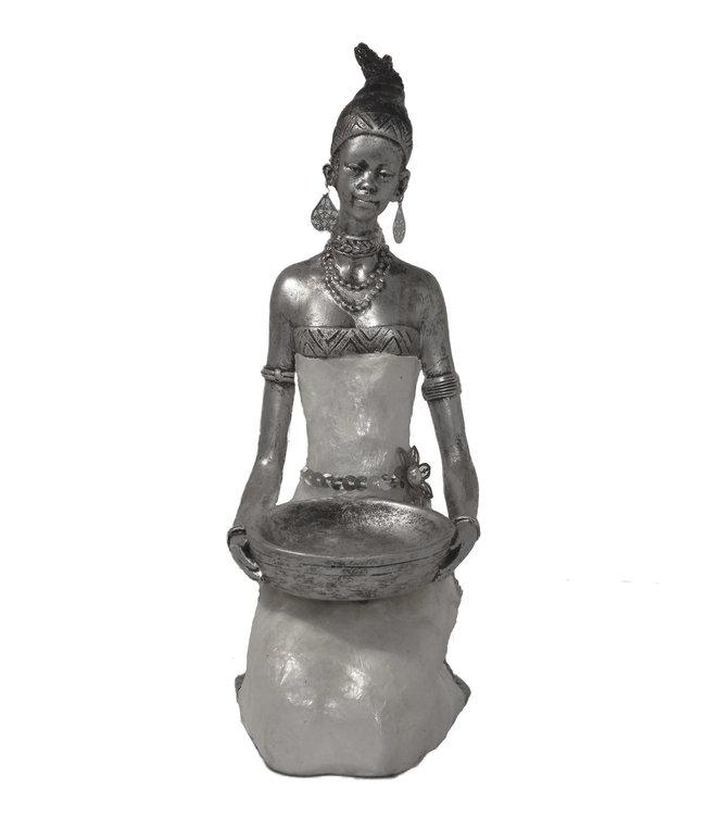 Afrikaanse beeld Safran vrouw 56 cm