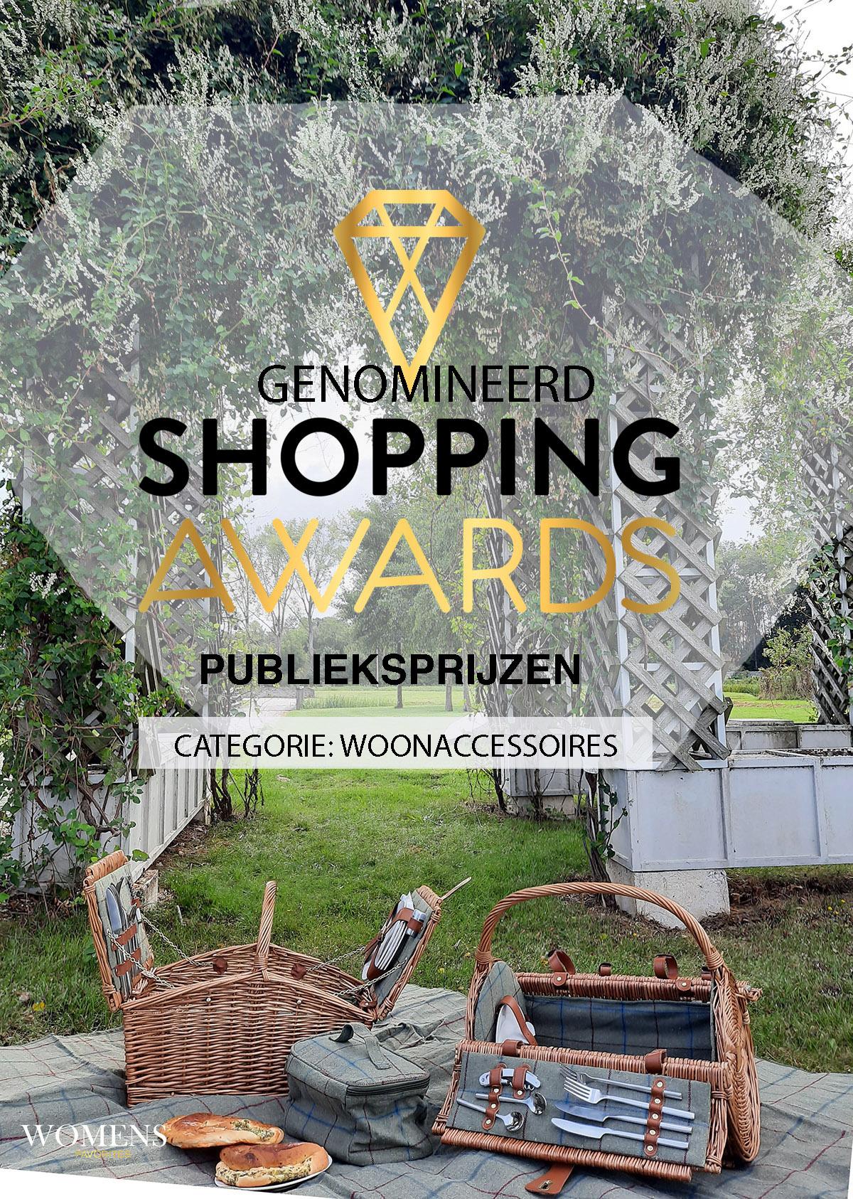 Woehoe! Wij zijn genomineerd voor Shopping Award 2021: Stem op mij!