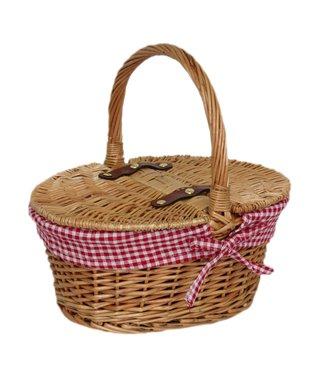 Picknickmand kind 'Roodkapje' - Schattig lege mand - Leuke Mand voor kinderkamer - Gemak voor Kinderfiets of Kinderstep - Vanaf 3 jaar oud - Zeegras en Riet - 29 x 22 x 15 mm