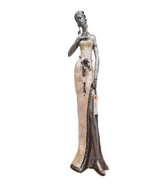 Afrikaanse vrouw beeldje vriendschap  - Staand beeldje - vrouwenbeeldjes -  Afrikaanse Kunst - Afrikaanse beelden-  48 cm