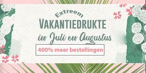 Let op! Een stijging van 400% meer bestellingen zorgt voor vertraging in Juli en Augustus