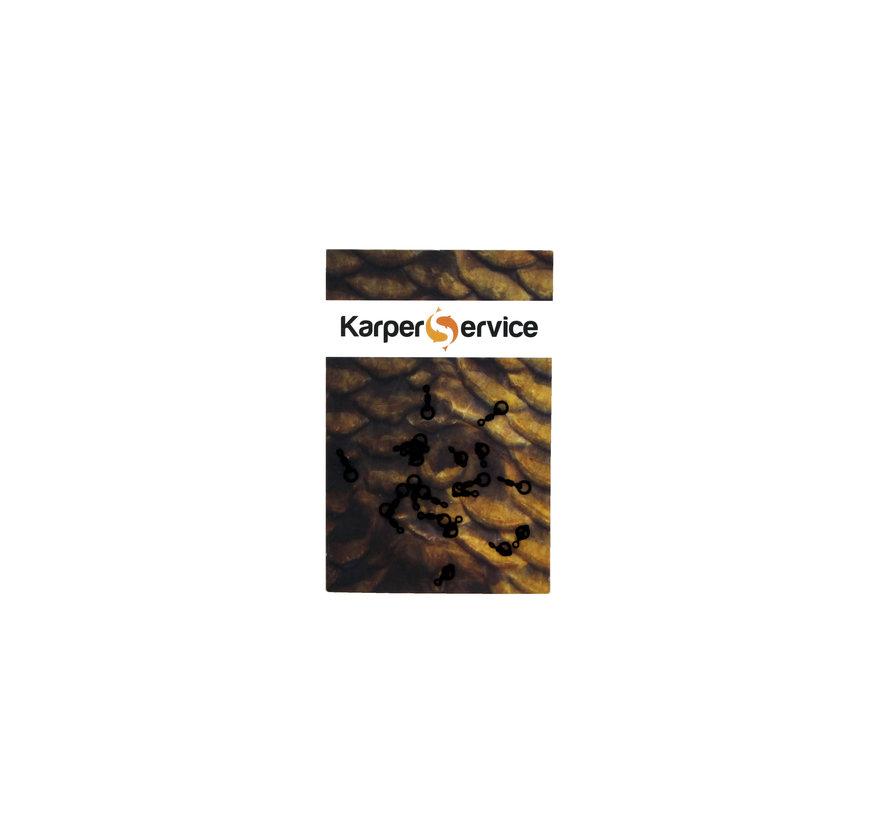 Ring swivels | 20pcs | maat 20 | Karper Service