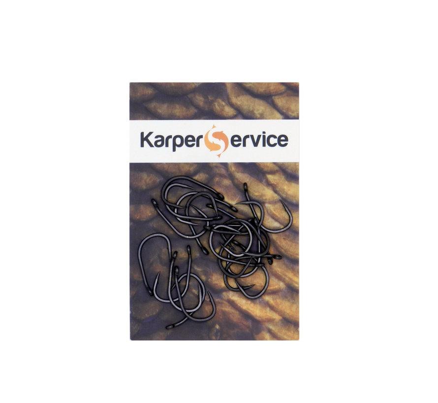Eye curve haak | maat 8 | 20pcs | Karper Service