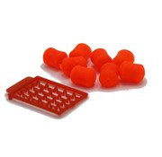 Karper Service Fake food dumbels | Red | 8 Pcs | + free stops | Karper Service