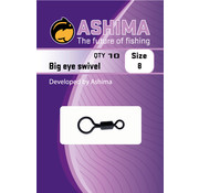 Ashima Ashima Big eye swivel size 8 10 pcs Size 8