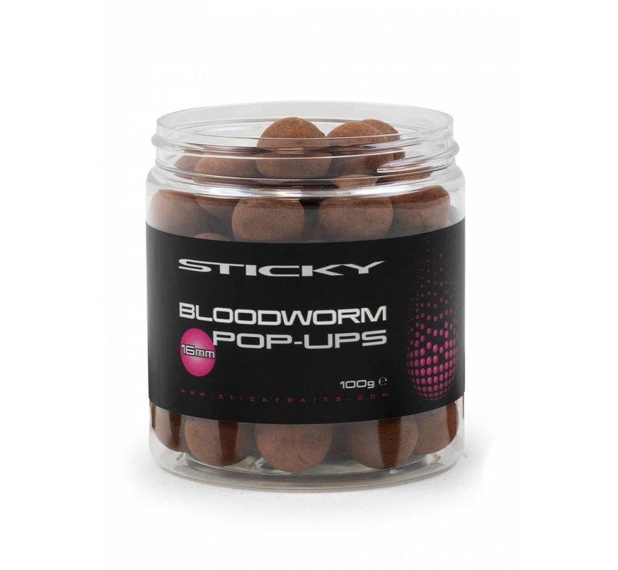 Bloodworm Pop-Ups 16mm 100g Pot