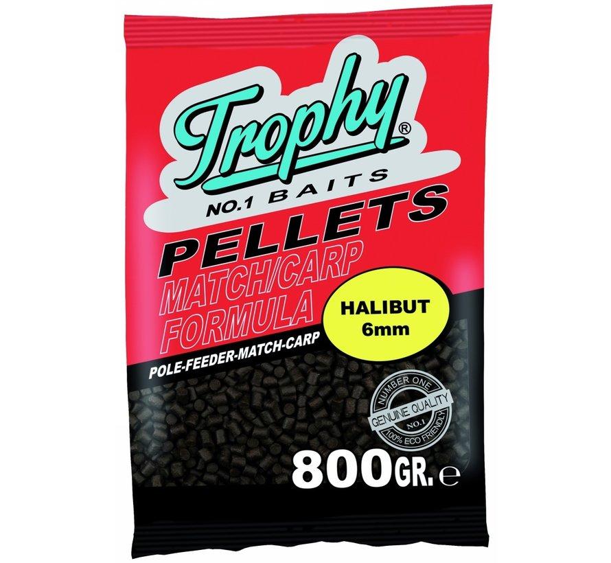 Halibut pellets | 6mm | Trophy Baits
