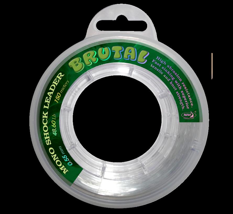 Shock mono line BRUTAL 0,55 mm 48,60 Lb | 22,06 kg | 150 m