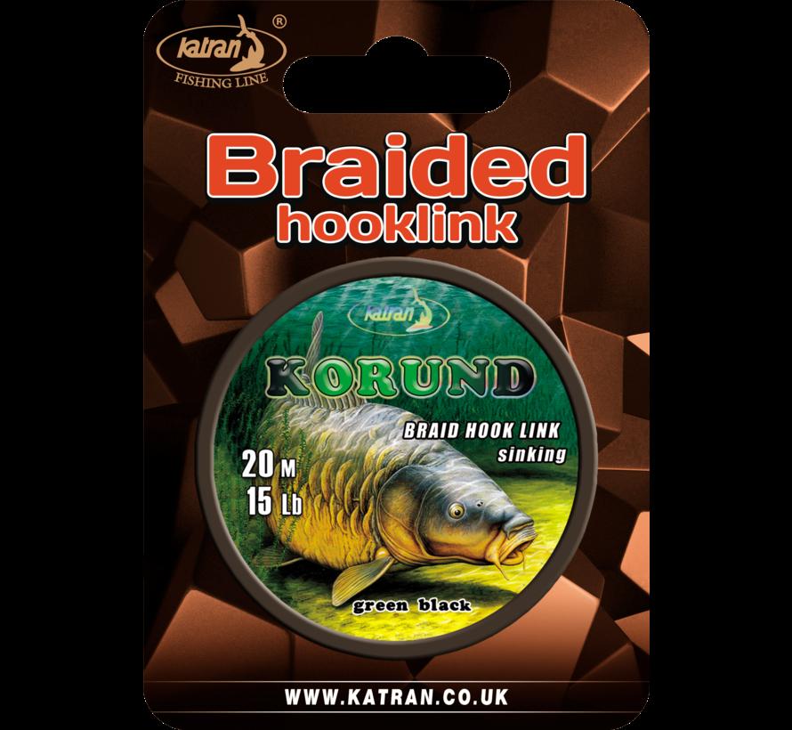 Braided hook links KORUND 15Lb | 20 m