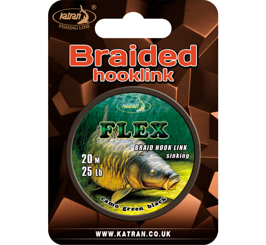 Braided hook links FLEX 25Lb | 20 m