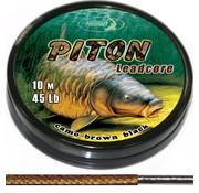Katran Fishing Lead core PITON camo brown black 45Lb | 10 m