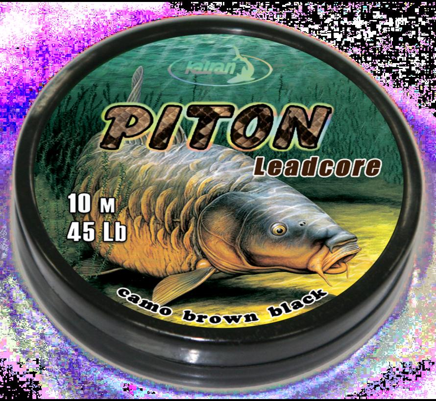 Lead core PITON camo brown black 45Lb | 10 m