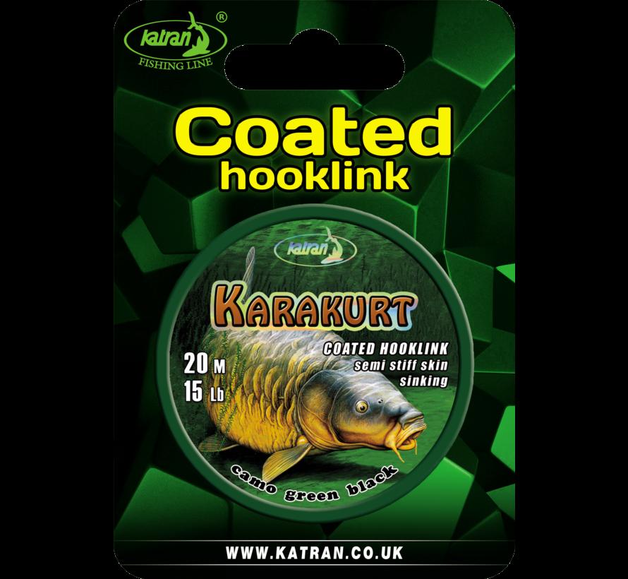 Coated braided hook links KARAKURT 15lb | 20 m