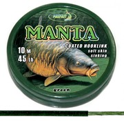 Katran Fishing Coated braided hook links MANTA GREEN 45lb | 10 m