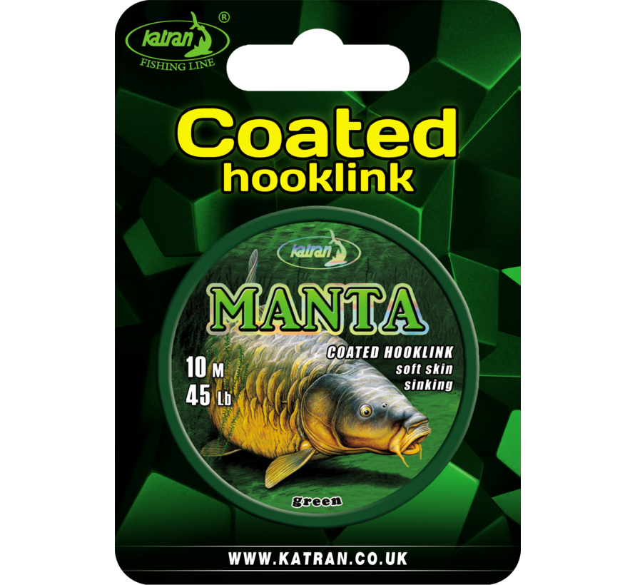 Coated braided hook links MANTA GREEN 45lb | 10 m