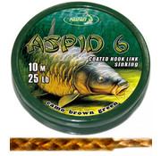 Katran Fishing Coated braided hook links ASPID 6 25Lb  | 10 m