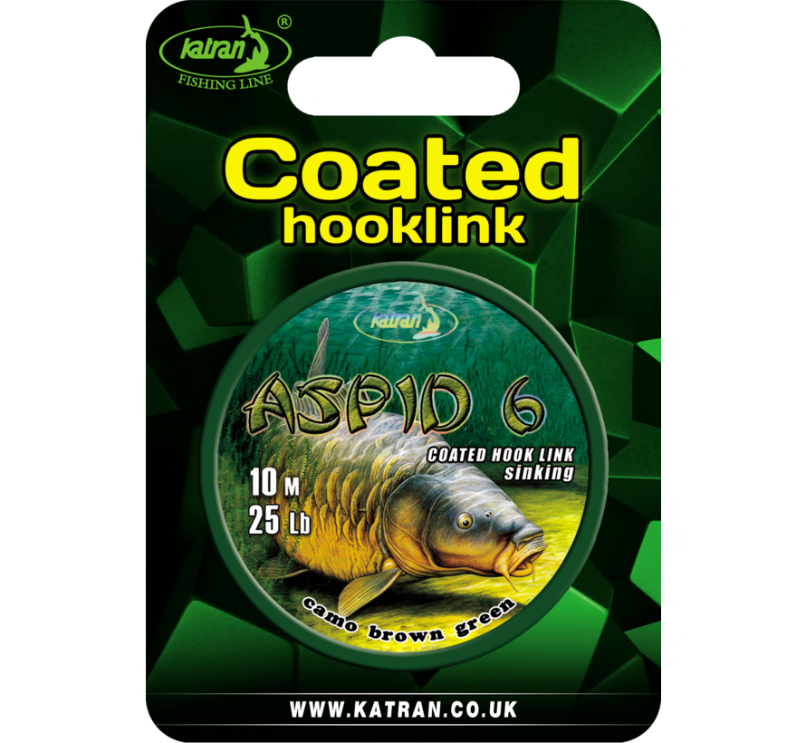 Coated braided hook links ASPID 6 25Lb  | 10 m