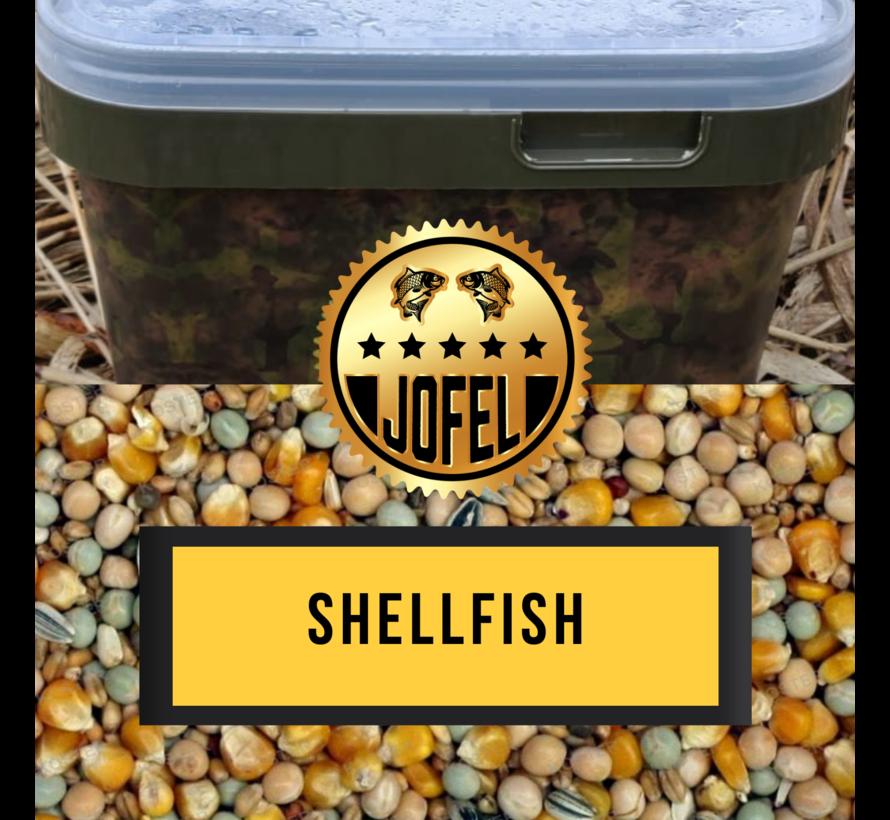 Kant- en klare | Partical mix | Shellfish | 10 Liter | Inc. emmer | Jofelbaits