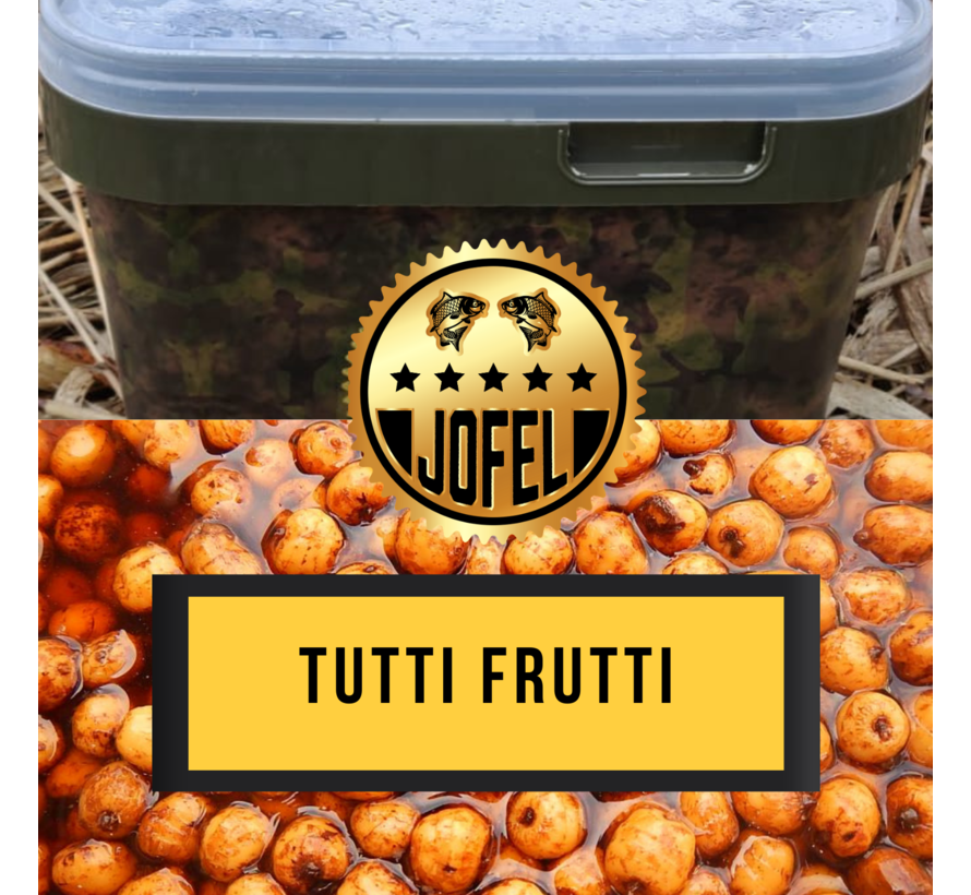 Kant- en klare | Tijgernoten | Tutti-frutti | 10 Liter | Inc. emmer | Jofelbaits
