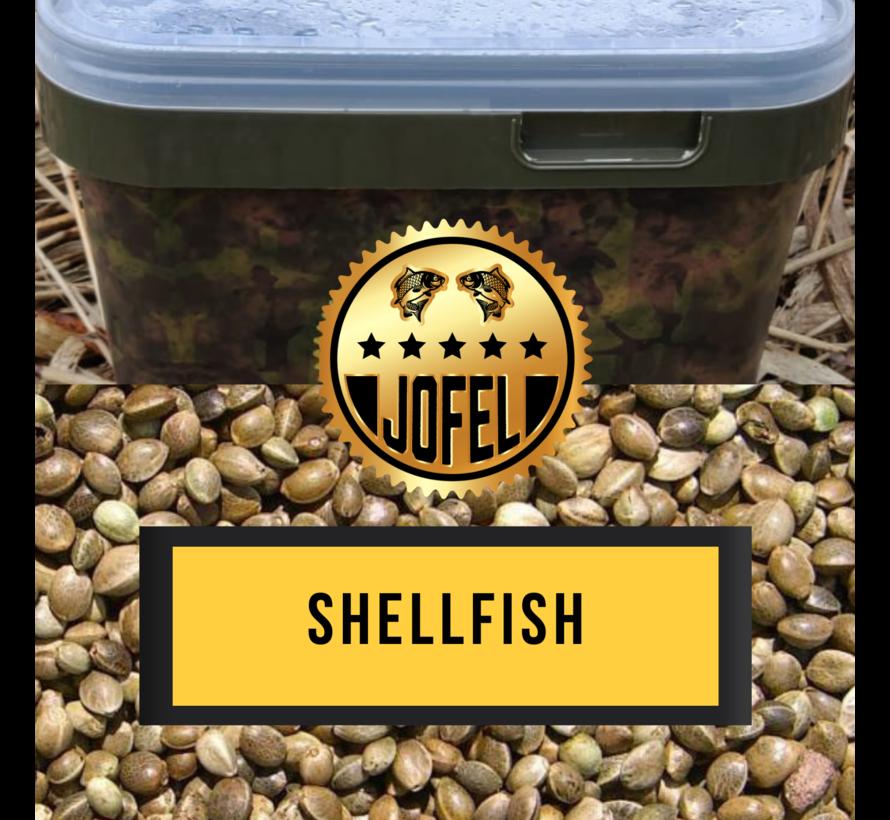 Kant- en klare | Hennep | Shellfish | 10 Liter | Inc. emmer | Jofelbaits