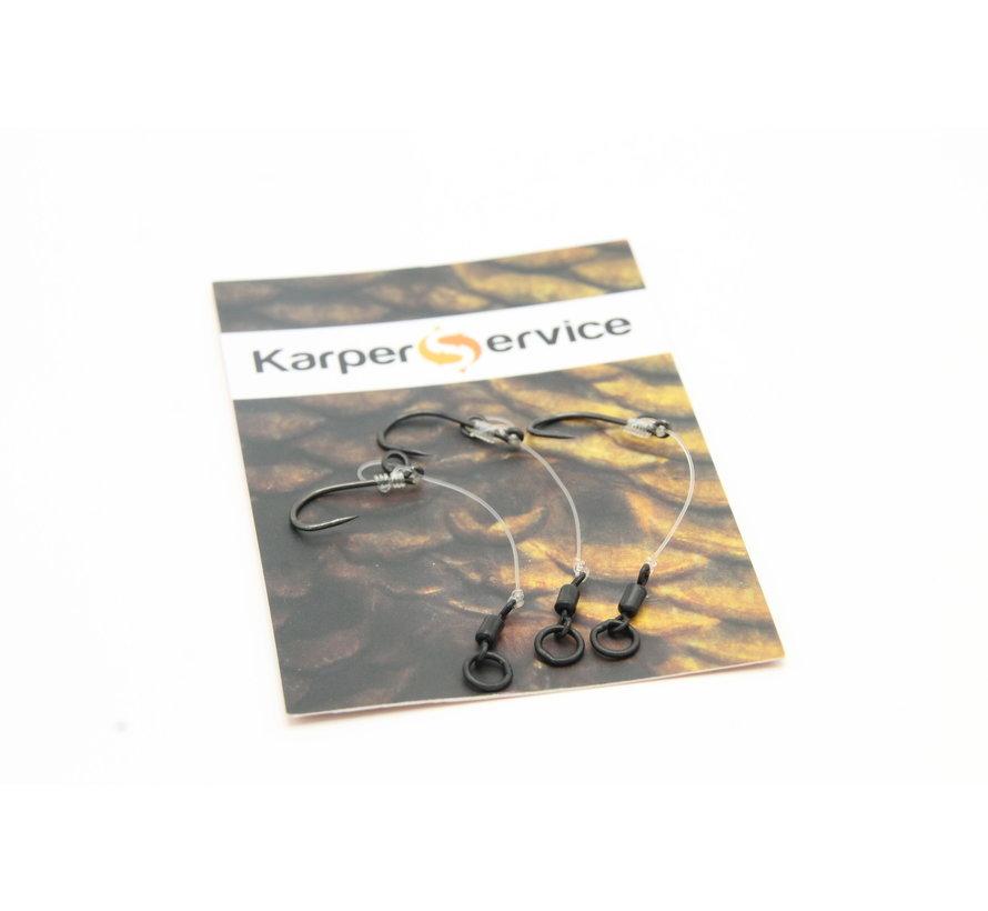 Chod rig | Ready made | 3pcs | Hook size 6 | 3cm | Karper Service