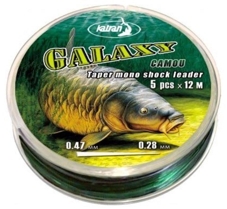 Taper mono shock leader GALAXY cast 0,28-0,47 mm